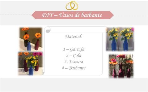 DIY - Vasos Barbante